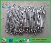 Hot Dip Galvanized Hook Eye Turnbuckle Free Forged For Adjusting The Tension