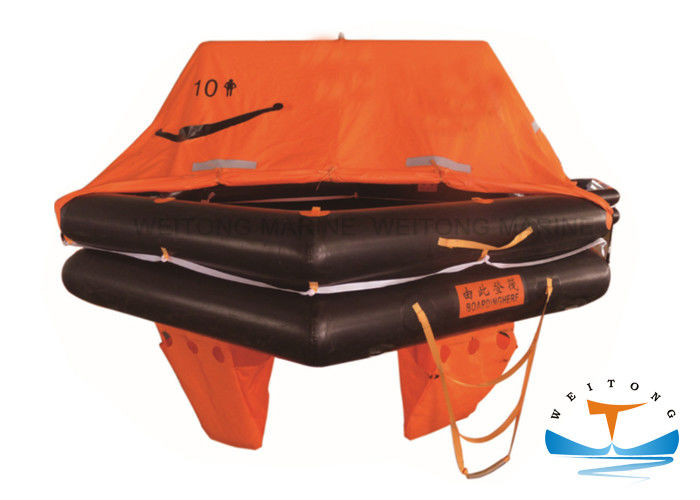 Fishing Boat Marine Life Raft 10 Person Large Safety Factor For Coastal II Zone