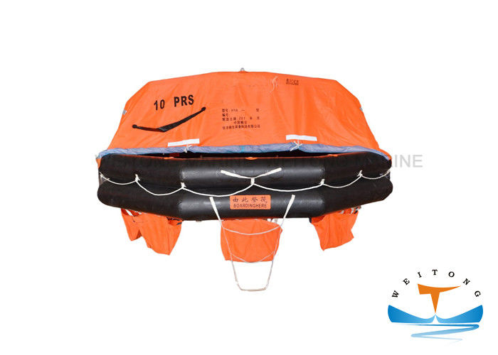 Solas Approved Inflatable Safety Raft , 10 Man Life Raft HS Code 8906901000