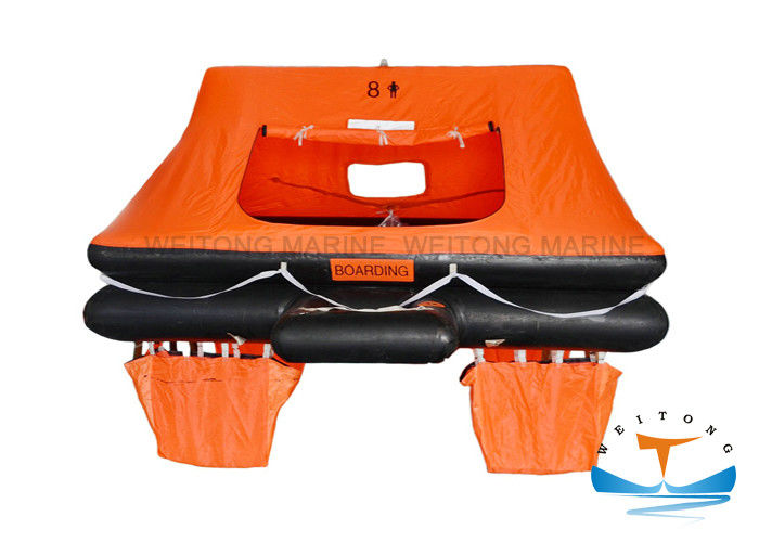 Rubber Marine Life Raft Solas A Pack 6m Storage Height For Yacht / Boat