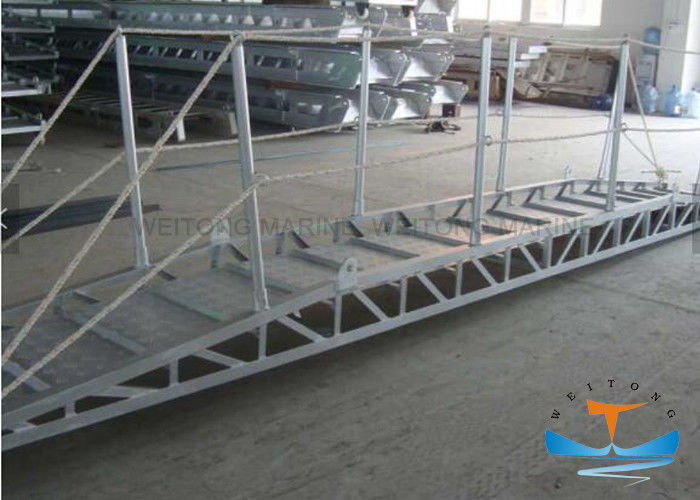 Bend Type Marine Boat Ladders 600mm Inside Width With Anti - Slip Strip