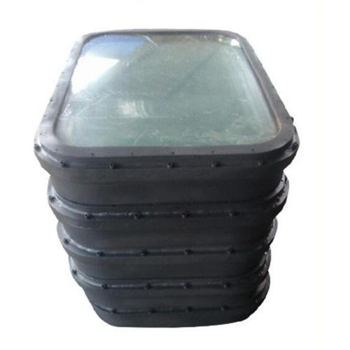 1240x840xR120 Size Marine Windows For Boats Oil Tanker 19mm Glass Thickness