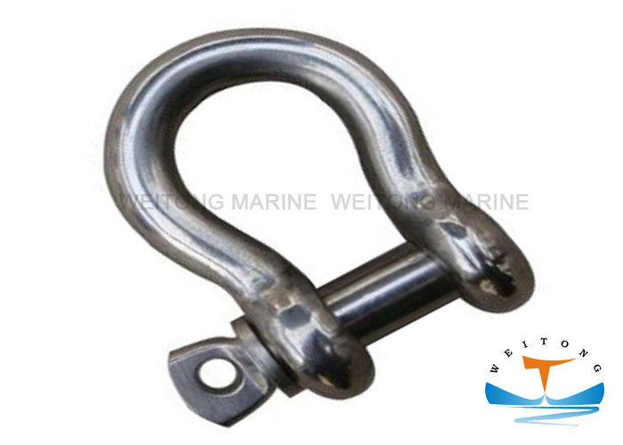 Stainless Steel 304 Large Bow Shackle 6mm-50mm Size With U - Shaped Body