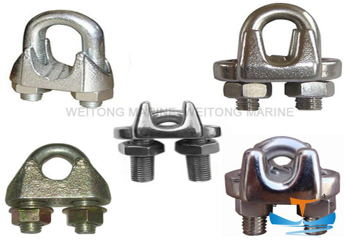 Alloy Steel Material Galvanized Wire Rope Clips For Marine Wire Rope Fitting